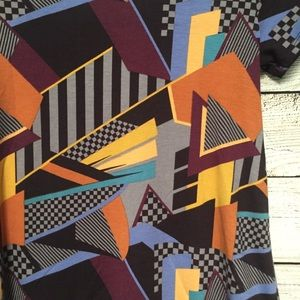 LuLaRoe Tops - LuLaRoe XXS Geometric Fall Colored Top